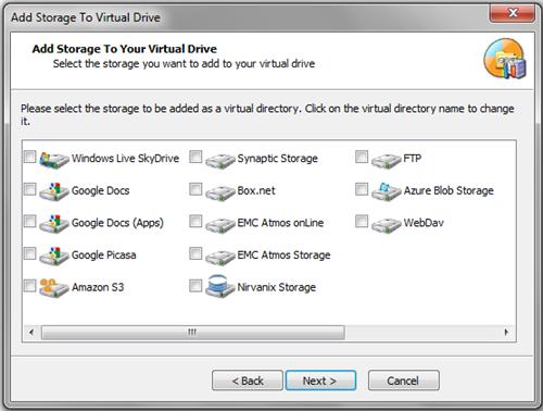 ������ ������� � ������ �� ������� Gladinet Cloud Desktop 4.0.854